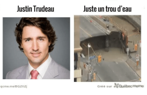 Weight of Justin Trudeau's Ego Leads to Rideau St. Sinkhole